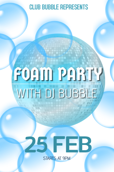 foam party poster template