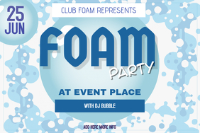foam party poster template landscape