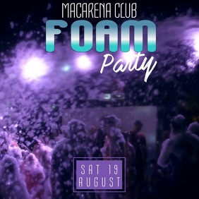 Foam Party Video Ad Template