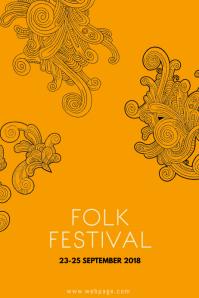 Folk festival flyer template
