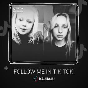 Follow me tik tok channel promotion template Square (1:1)