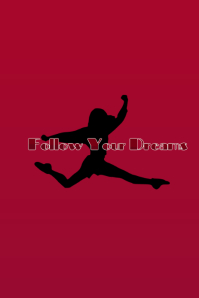 follow ur dreams Grafik Pinterest template