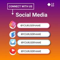 follow us Instagram Post template
