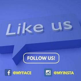 Follow Us Like Us on instagram facebook video