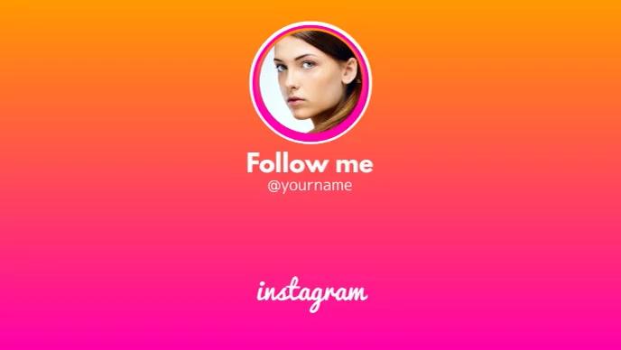 Follow us on instagram Facebook 封面视频 (16:9) template
