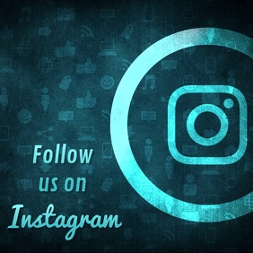 Follow us on instagram video blue
