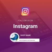 Follow Us on Social media Instagram Post template