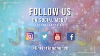 follow us on social media Pantalla Digital (16:9) template