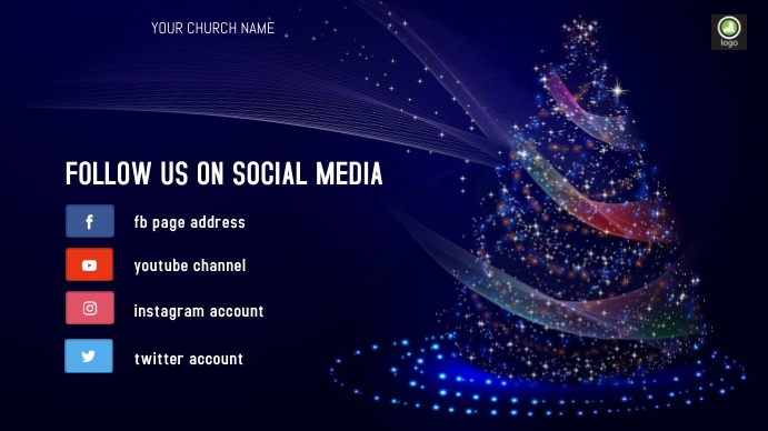 Follow us on social media Tampilan Digital (16:9) template