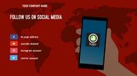 Follow us on social media Digital Display (16:9) template