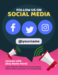 Follow Us on Social Media Flyer template