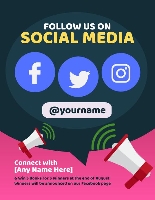 Follow Us on Social Media Flyer Pamflet (VSA Brief) template