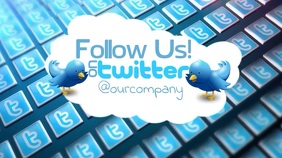 Follow Us On Twitter Video Ad Template Tampilan Digital (16:9)