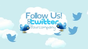 Follow Us On Twitter Video Ad Template Digital na Display (16:9)