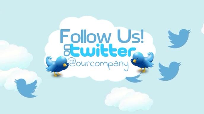 Follow Us On Twitter Video Ad Template Digitalt display (16:9)
