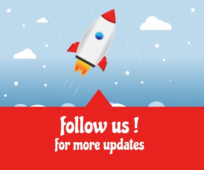 follow us social media flyer Middelgrote rechthoek template