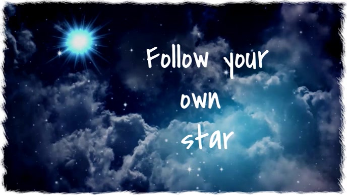 Follow your own star Vidéo de couverture Facebook (16:9) template