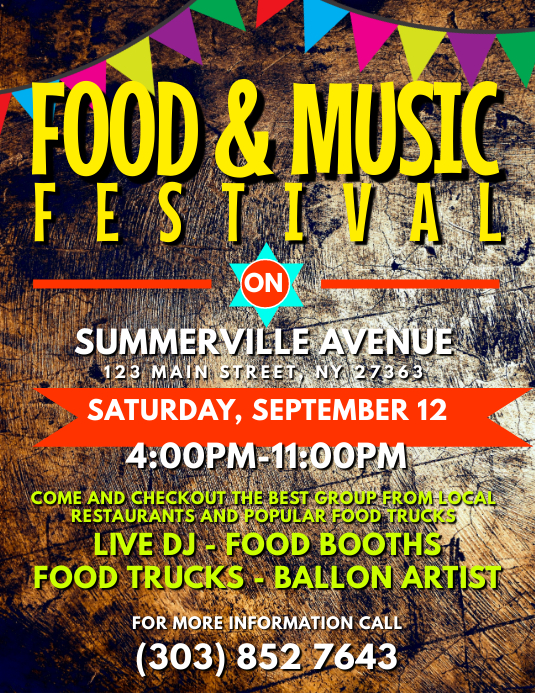 Food & Music Festival Flyer