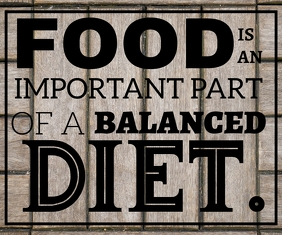 FOOD AND DIET QUOTE TEMPLATE Persegi Panjang Sedang