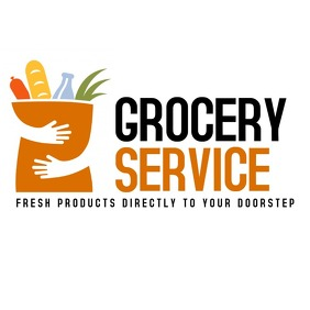 Food and grocery delivery logo icon design te template