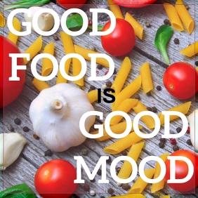 FOOD AND MOOD QUOTE TEMPLATE Publicación de Instagram