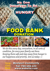 Food bank donation A4 template