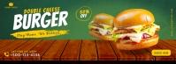 Food burger facebook cover template