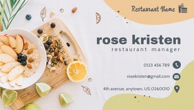 Food Business Card Cartão de visita template
