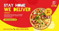 Food Delivery | Pizza Delivery Ad Gambar Bersama Facebook template