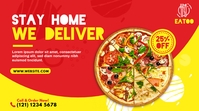 Food Delivery | Pizza Delivery Ad โพสต์บน Twitter template