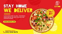 Food Delivery | Pizza Delivery Ad Twitter Post template