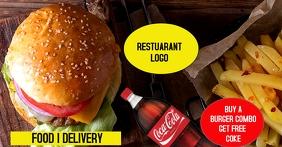 Food-Delivery Gambar Bersama Facebook template