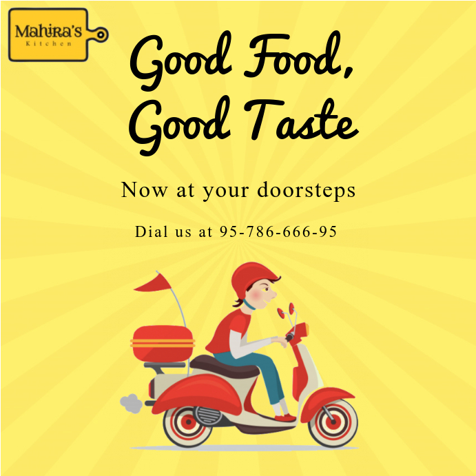 Food Delivery Template | PosterMyWall