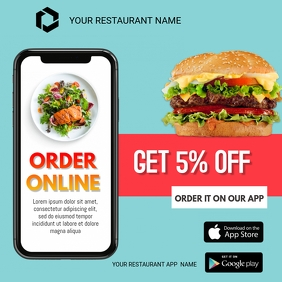 Food Delivery Instagram Post template
