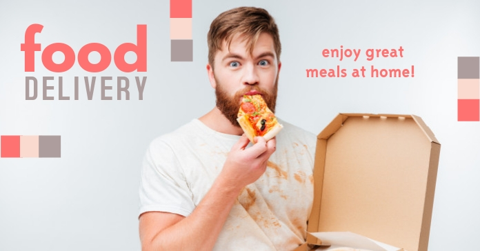 Food Delivery Facebook-Anzeige template