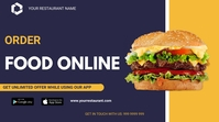 Food Delivery Twitch Banner template