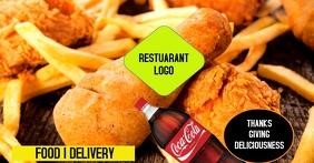 Food-Delivery Imagen Compartida en Facebook template