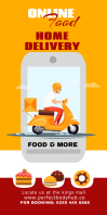 Food Delivery Rul-op banner 3' × 6' template