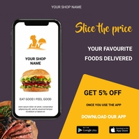 Food delivery Instagram-bericht template