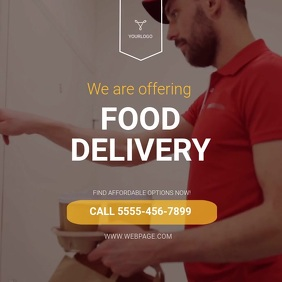 Food Delivery Instagram Ad Template