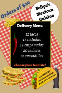 food delivery/mexican food/restaurant/menu