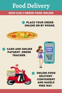 Food Delivery Order Template Póster