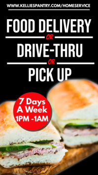 Food Delivery Poster Template Digital Display (9:16)