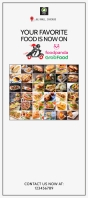 food delivery rack card template