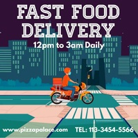 Food Delivery Restaurant Video Ad Template Instagram Post