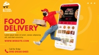 Food Delivery Service Ad Twitter Post template