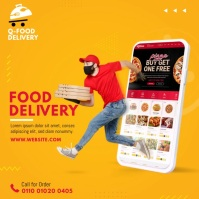 Food Delivery Service Ad Сообщение Instagram template