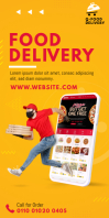Food Delivery Service Roll-Up Banner template