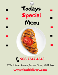 FOOD DELIVERY TEMPLATE Flyer (US Letter)