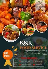 Restaurant Food Flyer template